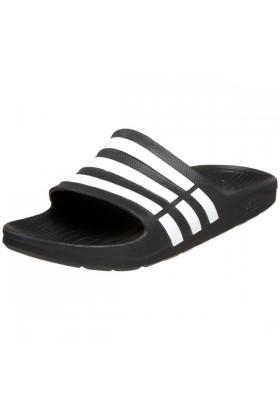adidas Sandals -  adidas Duramo Slide Sandal Black/White/Black