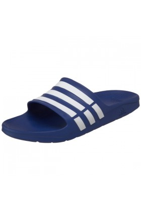adidas Sandals -  adidas Duramo Slide Sandal True Blue/White/True Blue