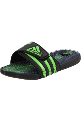 adidas Sandals -  adidas Men's Santiossage Sandal Black/Intense Green/Black