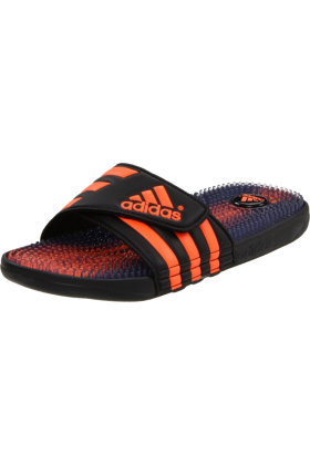 adidas Sandals -  adidas Men's Santiossage Sandal Black/Warning/Black