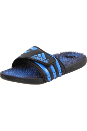 adidas Sandals -  adidas Men's Santiossage Sandal Black1/AF Blue/Black1