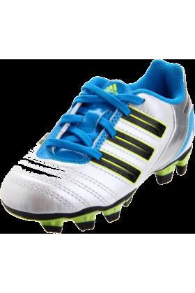 adidas Sneakers -  adidas Predito_X TRX FG Soccer Cleat (Toddler/Little Kid/Big Kid) Predator Running White Metallic/Black/Predator Sharp Blue Metallic