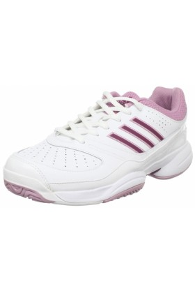 adidas Sneakers -  adidas Women's Ambition Stripes Vi W Tennis Shoe Running White/Solid Magenta/Shift Pink