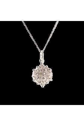 Dubrovacki botuni Necklaces -  ドブロブニクのボタン ペンダントヘッド(シルバー) 大