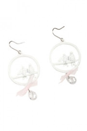 Shoptiques Brincos -  Bird in Ring Earrings