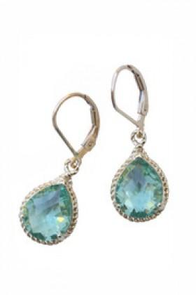 Shoptiques Brincos -  Malibu Stone Earrings