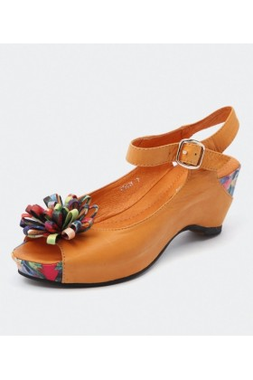 Django & Juliette Platforms -  Django & Juliette Kingsy Orange - Women Sandals