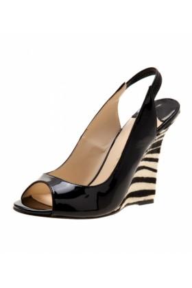 Robert Robert Sandals -  Robert Robert Hannah Black Patent/zebra - Women Sandals