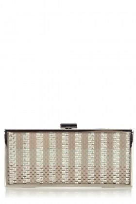 Oasis Borse con fibbia -  Camber Weave Perspex Clutch