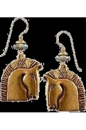 jessica Earrings -  Laurel Burch horse earings