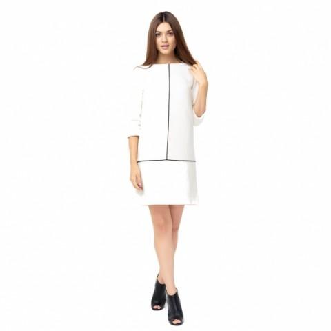 Refined woolen white dress - Dresses