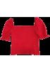 FECLOTHING Shirts -  3 COLORS|Retro square neck elastic top