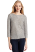 AK Anne Klein Pullovers -  AK Anne Klein Women's 3/4 Sleeve Sequin Boat Neck Pullover Light Charcoal