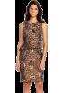 AK Anne Klein Dresses -  AK Anne Klein Women's Leopard Taffeta Cocktail Dress Dark Brown/Multi