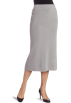 AK Anne Klein Skirts -  AK Anne Klein Women's Petite Long Knit Skirt Silver