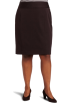 AK Anne Klein Skirts -  AK Anne Klein Women's Plus Size Classic Skirt Chocolate