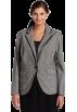 AK Anne Klein Jacket - coats -  AK Anne Klein Women's Plus Size Glen Plaid Blazer Black/Sugar