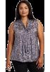 AK Anne Klein Shirts -  AK Anne Klein Women's Plus Size Tie Neck Blouse Plum/Sugar