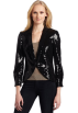 AK Anne Klein Jacket - coats -  AK Anne Klein Women's Sequin Blazer Black