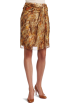 AK Anne Klein Skirts -  AK Anne Klein Women's Splatter Print Skirt Nutshell Multi