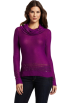AK Anne Klein Pullovers -  Ak Anne Klein Women's Longsleeve Cowl Neck Pullover Sweater Raisin