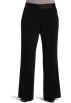 AK Anne Klein Pants -  Ak Anne Klein Women's Plus Size Stretch Crepe Wide Leg Pant Black
