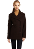 AK Anne Klein Jacket - coats -  Ak Anne Klein Women's Wool Double-breasted Peacoat Brown