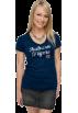 adidas T-shirts -  Auburn Tigers Women's Navy adidas Vintage Tri-Blend V-neck T-Shirt