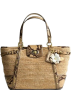 COACH Bag -  Coach Limited Edition Straw Natalie Shopper Bag Tote Natural Python Embossed Trim - Coach 16839NAT