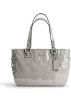 COACH Bag -  Coach Patent Embossed Signature Gallery Book Bag Purse Tote 17728 Gray