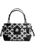 Calvin Klein Bag -  Coach Peyton Canvas Op Art Carryall 14515 Black White