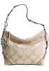 COACH Bag -  Coach Signature 24cm Carly Shoulder Hobo Bag Purse tote 15250 Khaki Gold