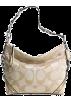 COACH Bag -  Coach Signature 24cm Carly Shoulder Hobo Bag Purse tote 15250 Khaki Gold