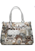 COACH Taschen -  Coach Signature Poppy Pop C Glam Tote Khaki Multi