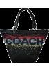 COACH Hand bag -  Coach Signature Rhinestone Says COACH Tote Style Handbag Black