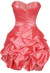 PacificPlex Dresses -  Beaded Taffeta Party Mini Bubble Dress Prom Holiday Coral