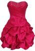 PacificPlex Dresses -  Beaded Taffeta Party Mini Bubble Dress Prom Holiday Fuchsia