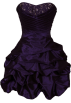 PacificPlex Dresses -  Beaded Taffeta Party Mini Bubble Dress Prom Holiday Purple