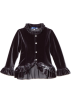 Amazon.com Jacket - coats -  Blue Pearl Girls 2-6x Stretch Velour Ruffle Jacket Silver