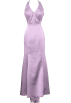 PacificPlex Dresses -  Bridal Satin Beaded Halter Gown Holiday Wedding Dress Lavender