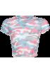 FECLOTHING Košulje - kratke -  Camouflage T-shirt umbilical sexy top