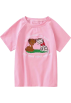 FECLOTHING T-shirts -  Cat embroidery print short sleeve