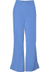 Amazon.com Pants -  Cherokee 4101 Low Rise Flare Scrub Pant Ciel Blue