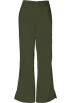 Amazon.com Pants -  Cherokee 4101 Low Rise Flare Scrub Pant Dark Olive