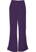Amazon.com Pants -  Cherokee 4101 Low Rise Flare Scrub Pant New Eggplant