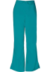Amazon.com Pants -  Cherokee 4101 Low Rise Flare Scrub Pant Teal Blue