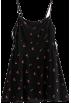 FECLOTHING Dresses -  Cherry Print Side Banded Strap Sling Dre