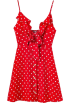 FECLOTHING Dresses -  Chest hollow tied wave point A word dres