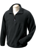Chestnut Hill Pullovers -  Chestnut Hill Men's Polartec Colorblock Quarter Zip Pullover. CH970 Black/black