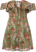 FECLOTHING Dresses -  Collar strapless print tie jumpsuit